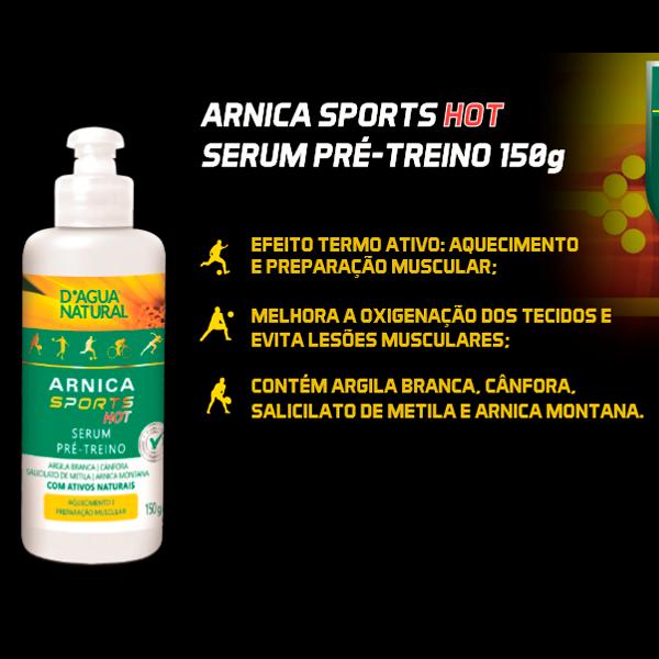 Arnica Sports Hot 150g Serum Dagua Natural Lançamento