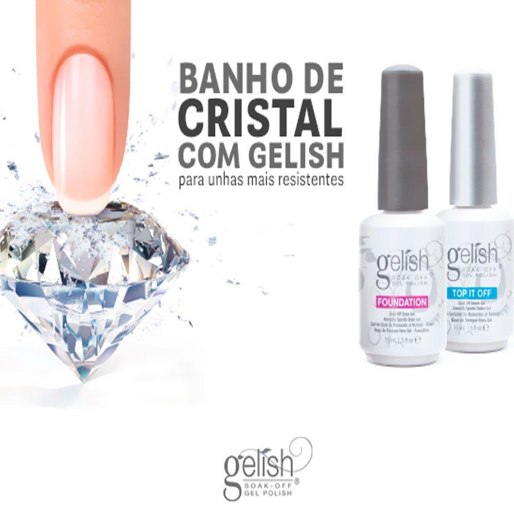 Basix Kit Gelish Harmony - Para Esmaltação Em Gel - Blindagem Diamante