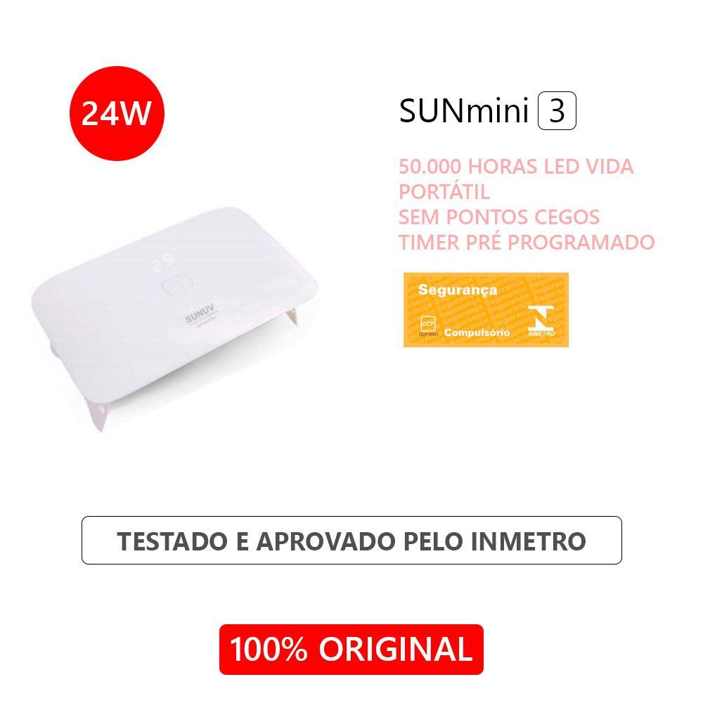 Cabine UV LED Sun Mini 3 PLUS 24W Original SUNUV