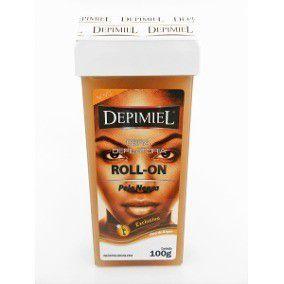 Cera Depilatória Depimiel Roll-on 100g Pele Negra
