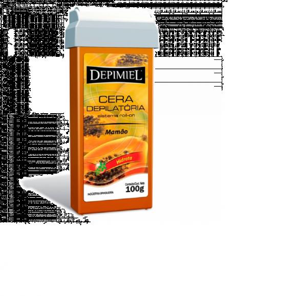 Cera Depilatória Depimiel 100g Mamão