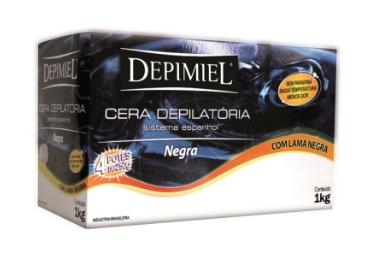 Cera Depilatória Negra Depimiel 1kg + Termo Cera Mega bell 400g