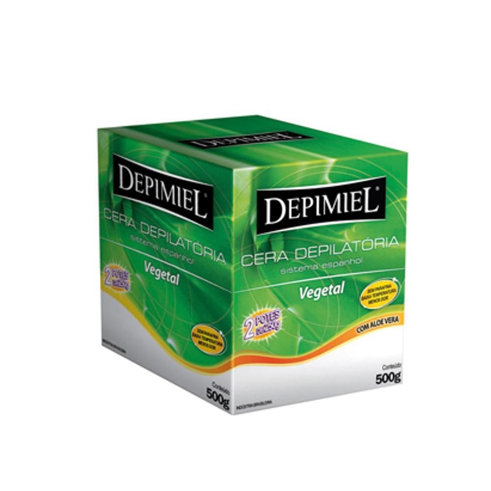 Cera Depilatória Depimiel 500g Vegetal