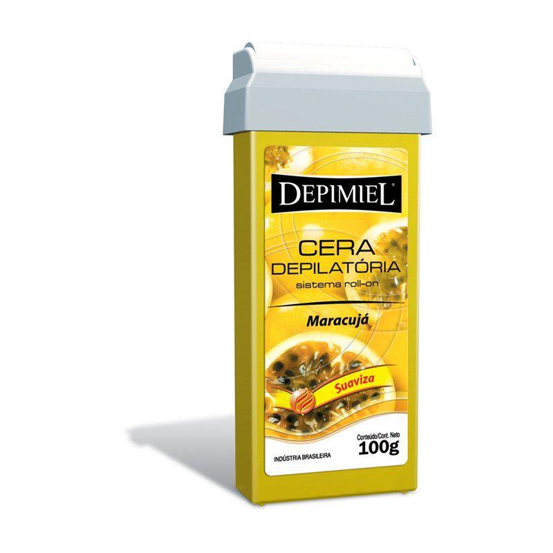 Cera Depilatória Depimiel Roll-on 100g Maracujá