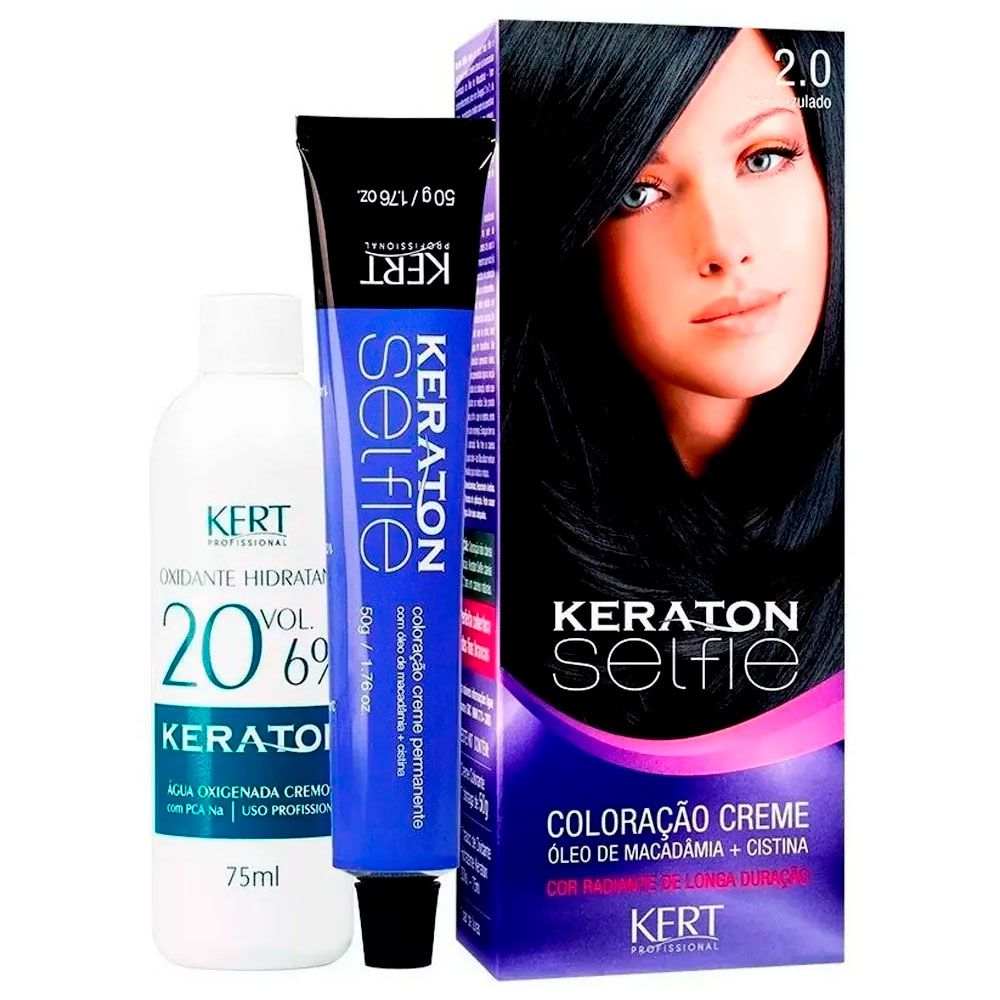 Coloração Keraton Selfie 2.0 Preto Azulado