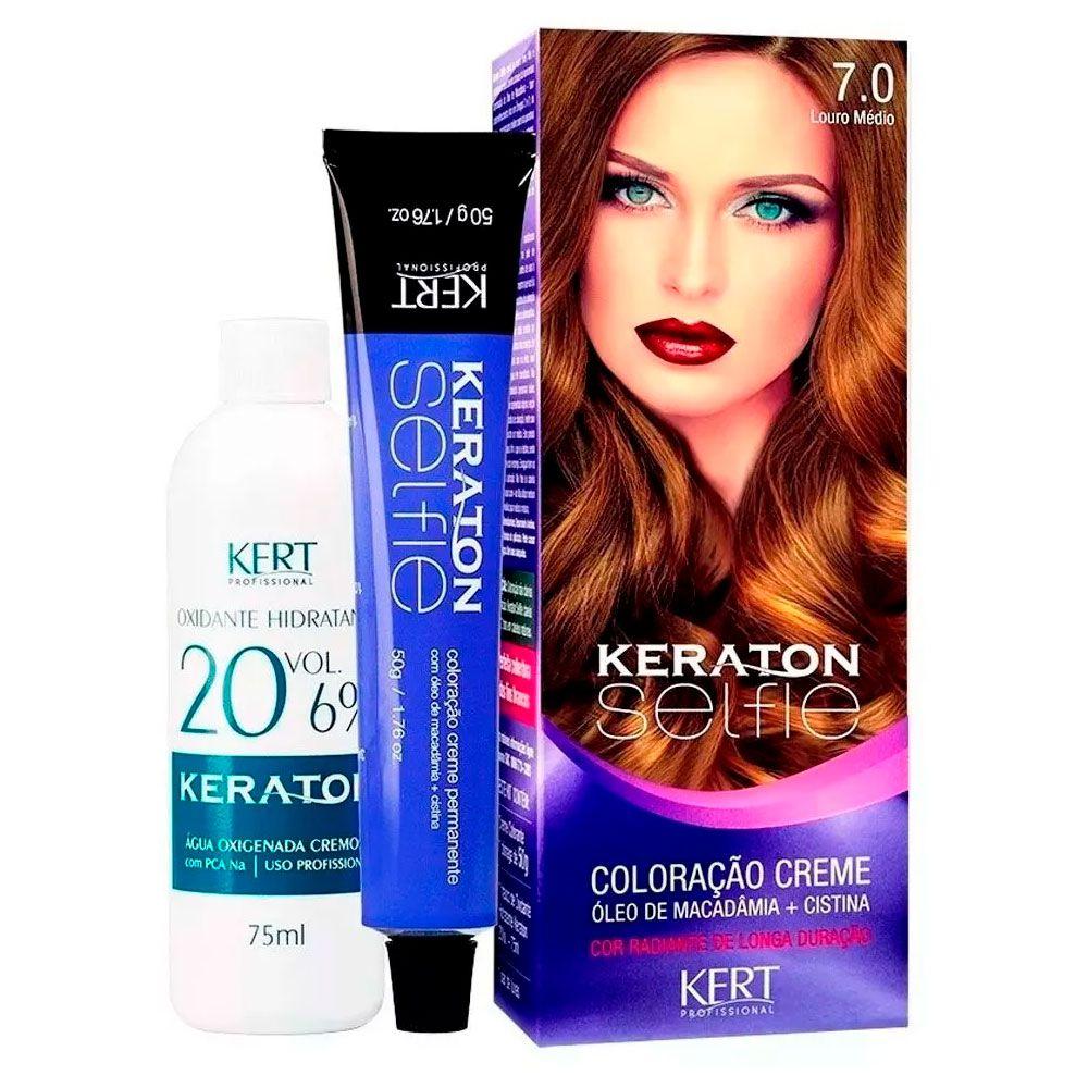 Coloração Keraton Selfie 7.0 Louro Médio