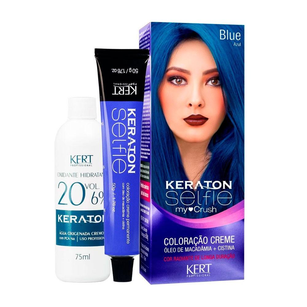 Coloração Keraton Selfie My Crush Lavander - Azul/Blue