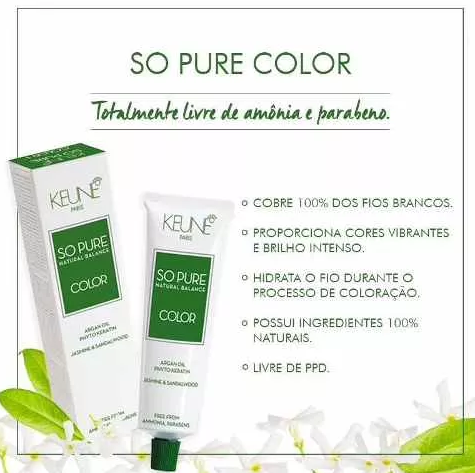 Tinta Keune So Pure 60ml - Cores