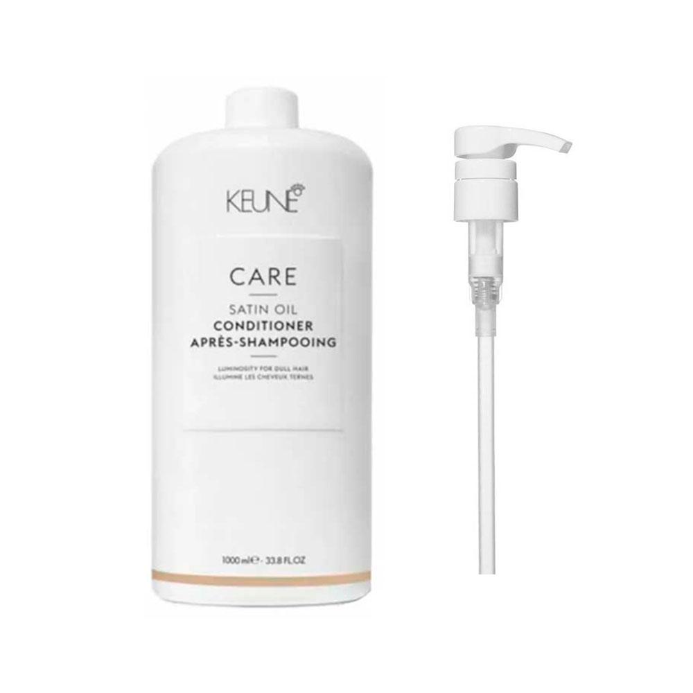 Condicionador Keune Care Line Satin Oil 1000ml + Brinde Pump