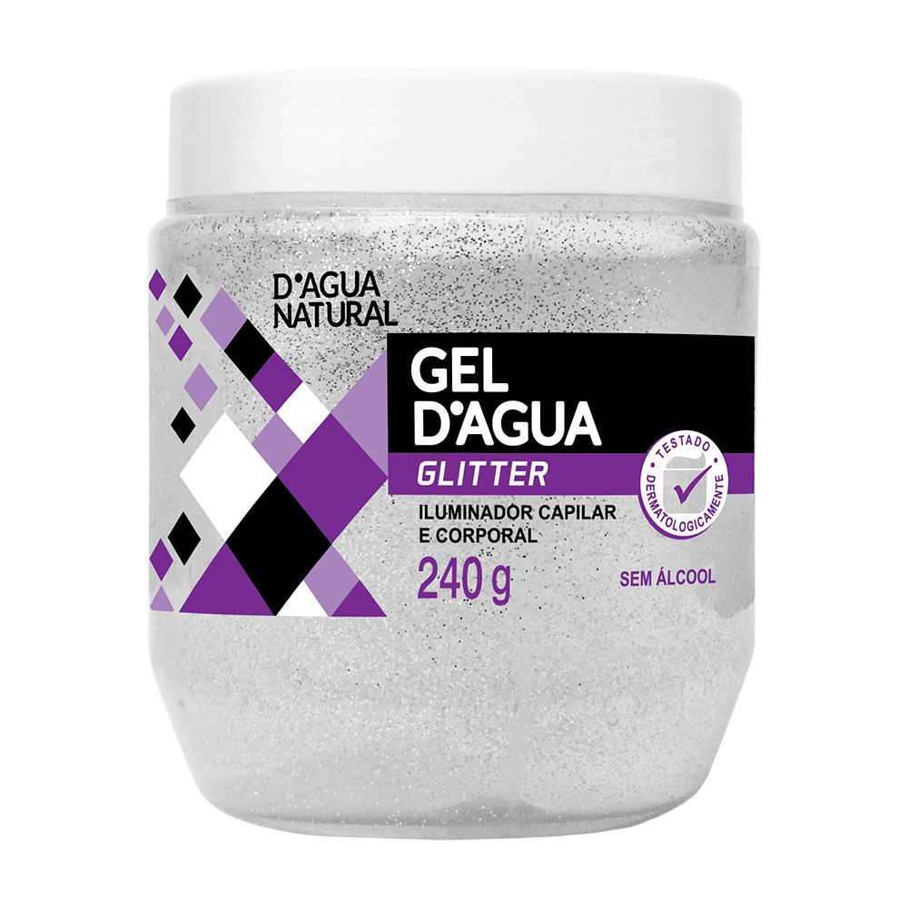 Gel Fixador D'agua Glitter 240g D'agua Natural