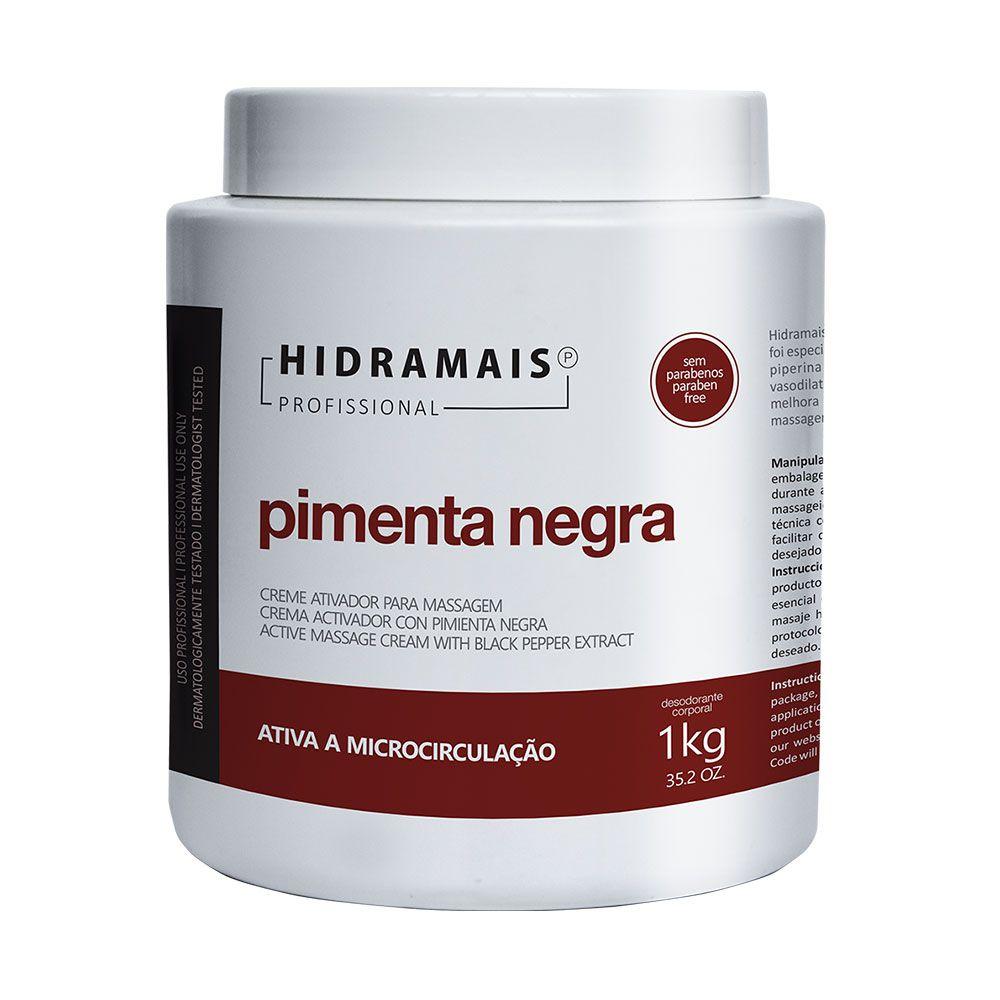 Creme De Massagem Pimenta Negra 1kg Hidramais