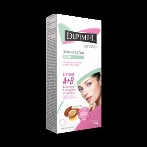 Creme Depilatório Depimiel Facial Sensitive A + B 45g