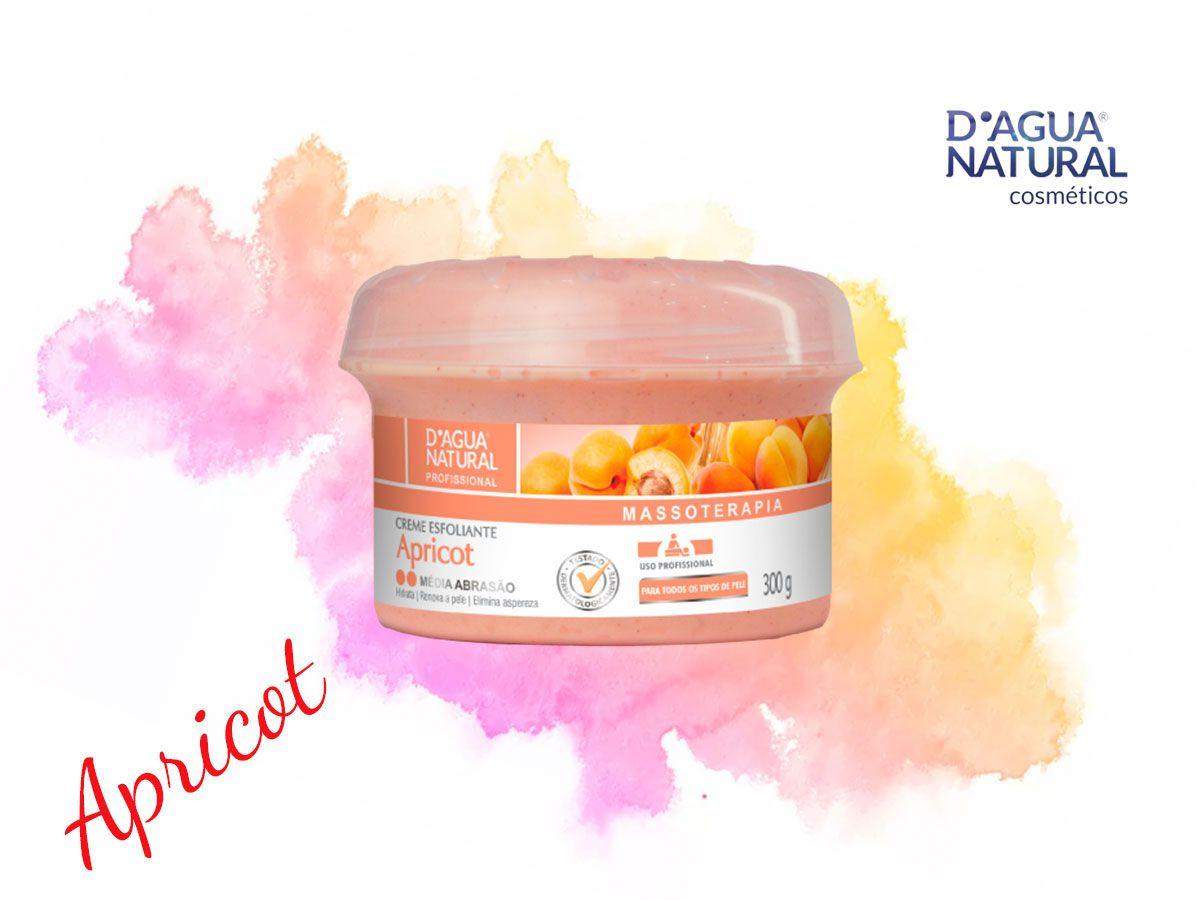 Creme Esfoliante Apricot Média Abrasão 300g Dagua Natural