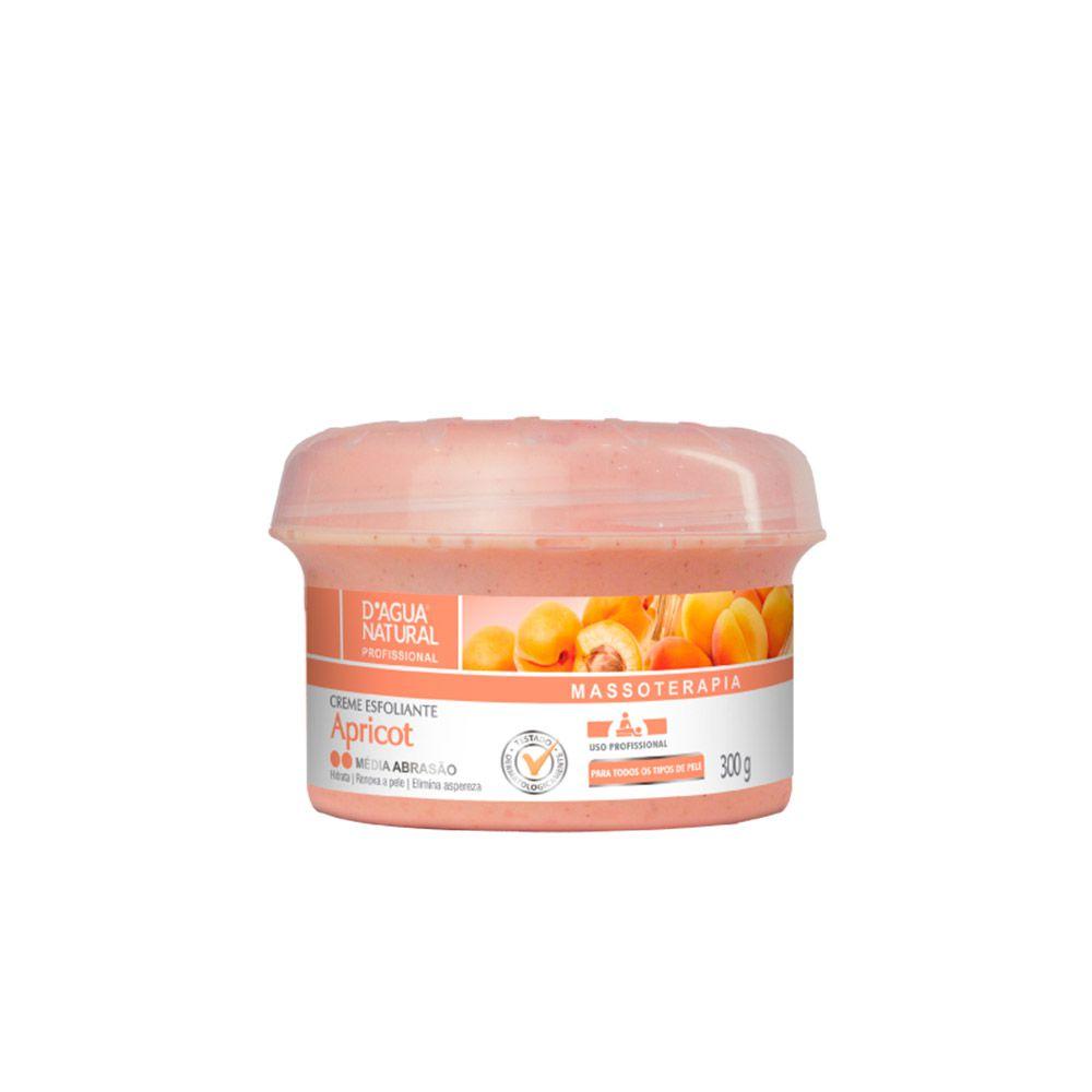 Creme Esfoliante Apricot Médio Abrasão 300g Dagua Natural