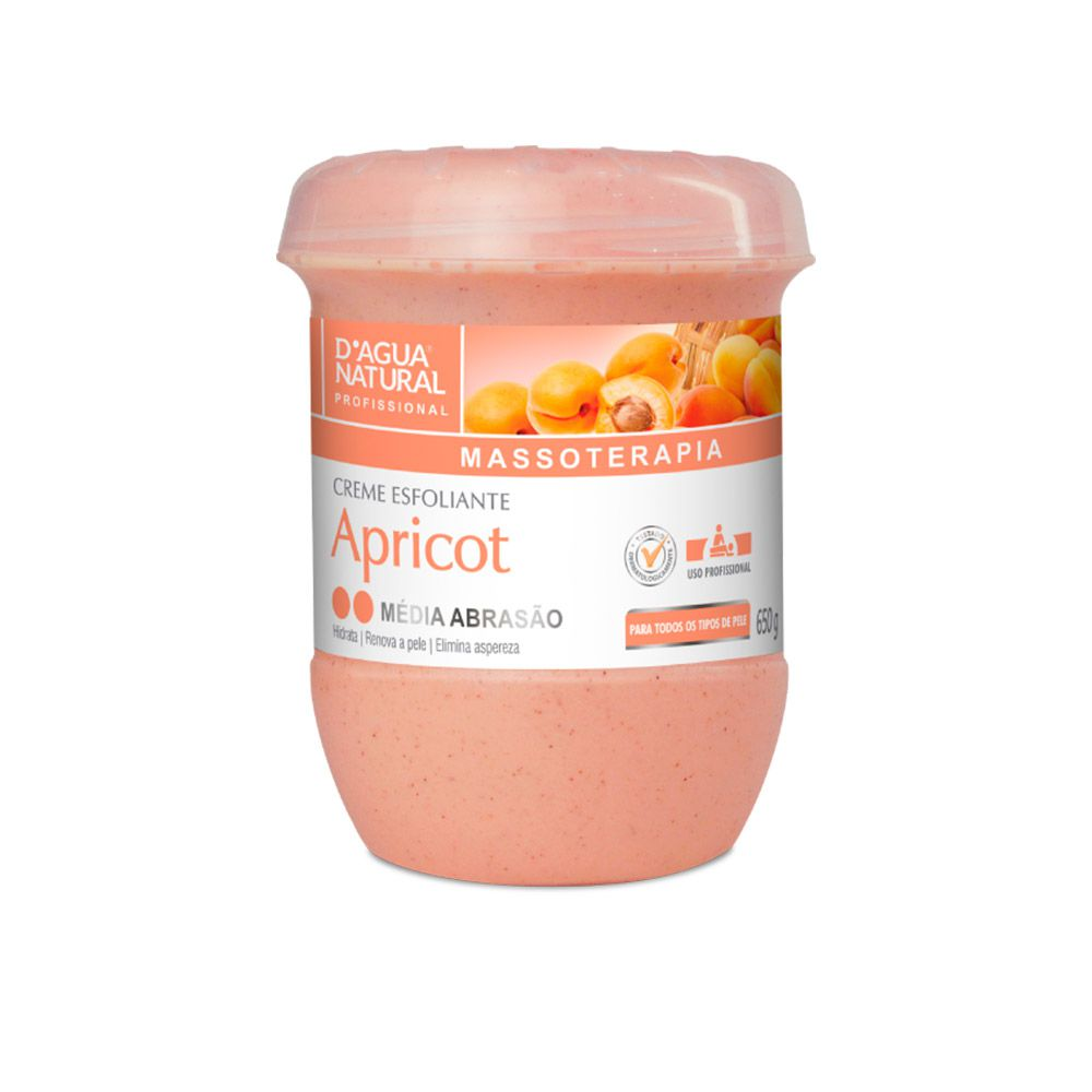 Creme Esfoliante Apricot Médio Abrasão 650g Dagua Natural