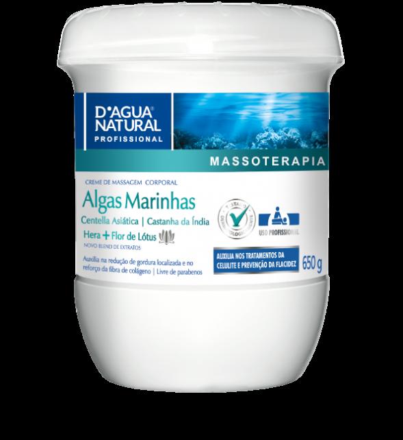 Creme Massagem Corporal Algas Marinhas 650g Dagua Natural