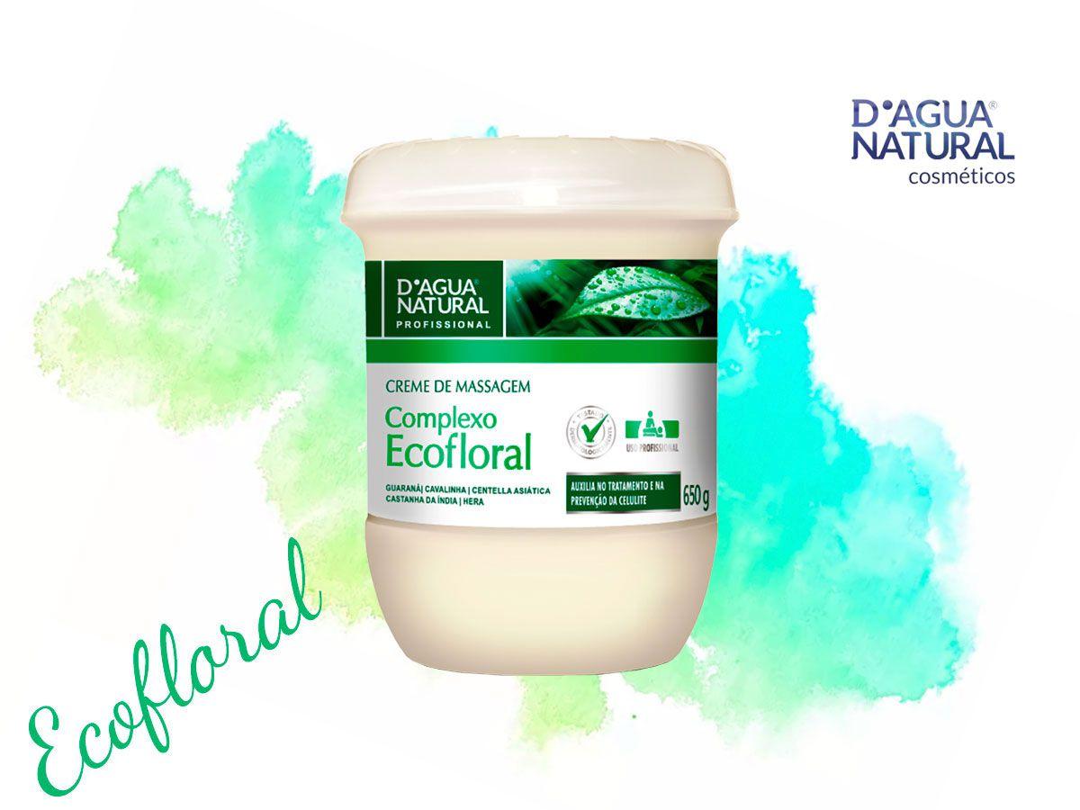 Creme Massagem Corporal Complexo Ecofloral 650g Dagua Natural