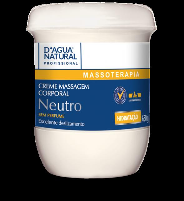Creme Massagem Corporal Neutro 650g Dagua Natural