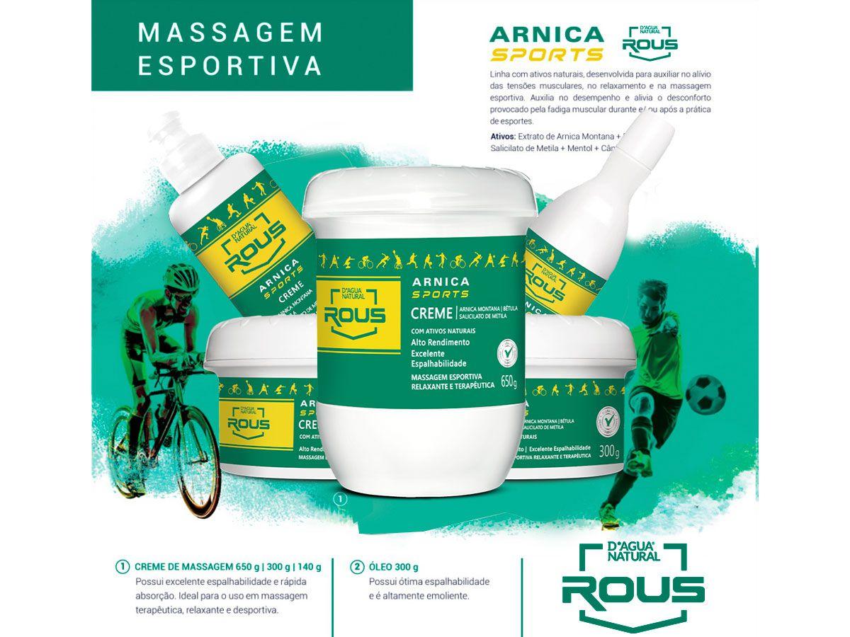 Creme Massagem Desportiva Arnica Sports  650g Dagua Natural