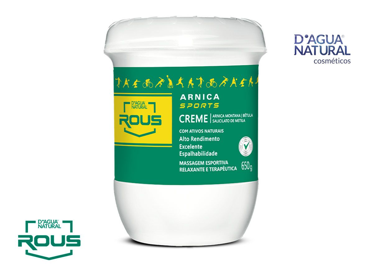 Creme Massagem Desportiva Arnica Sports  650g Dagua Natural