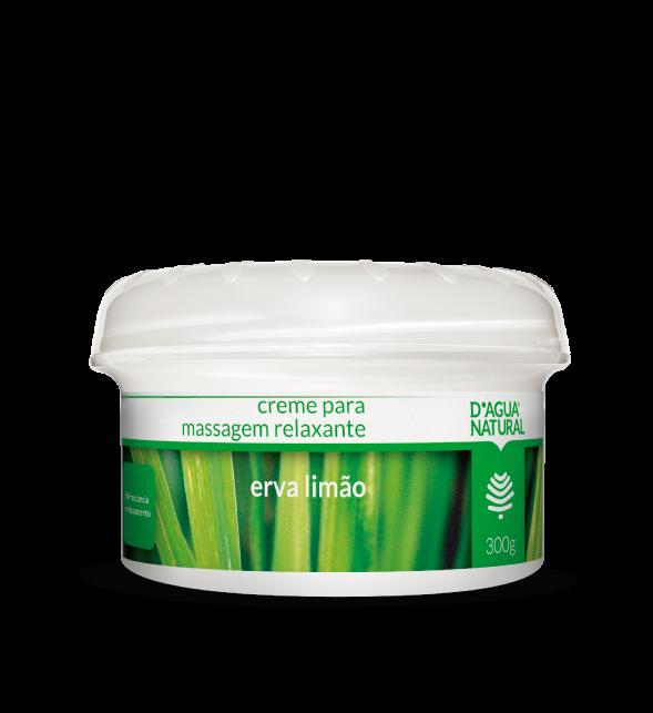 Creme Massagem Relaxante Erva Limão 300g Dagua Natural