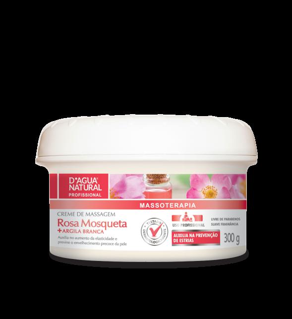 Creme Massagem Rosa Mosqueta e Argila Branca 300g Dagua Natural