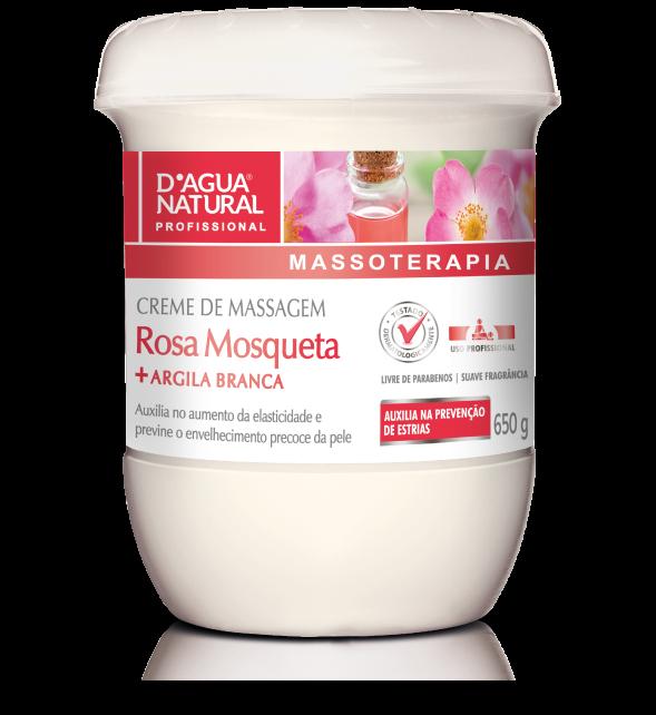 Creme Massagem Rosa Mosqueta e Argila Branca 650g  Dagua Natural