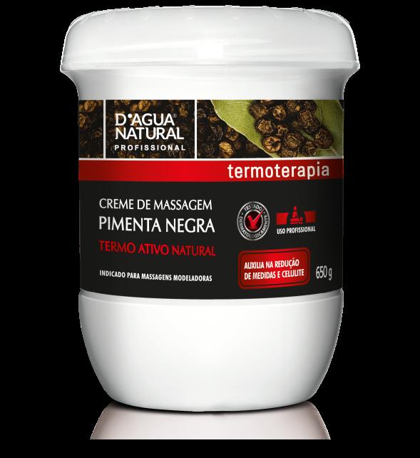 Creme Pimenta Negra 650g Dagua Natural + Cinta Térmica Elétrica 127v Santa Clara