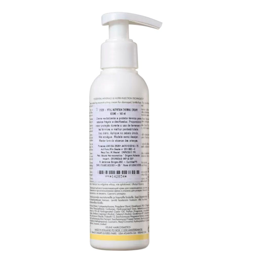 Creme Protetor Térmico Keune Vital Nutrition 140ml