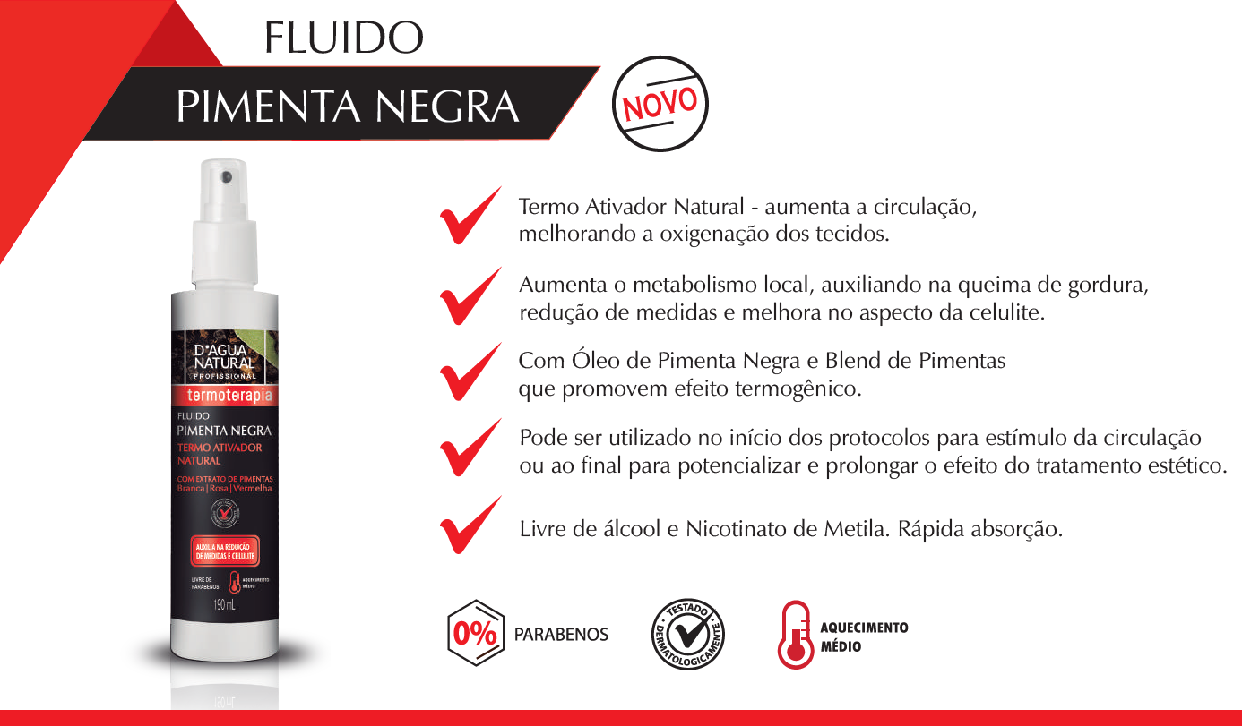 Fluido Pimenta Negra Dagua Natural 190ml