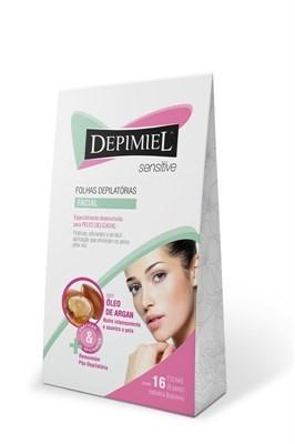 Folha Depilatória Facial Depimiel Sensitive com 16