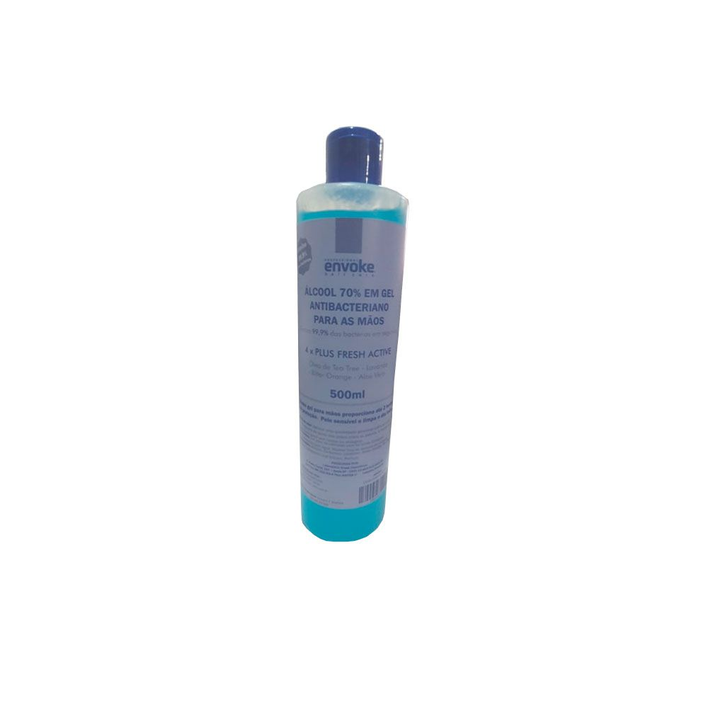 Gel 70° % Alcool Antisséptico Bactericida 500ml Contra Vírus