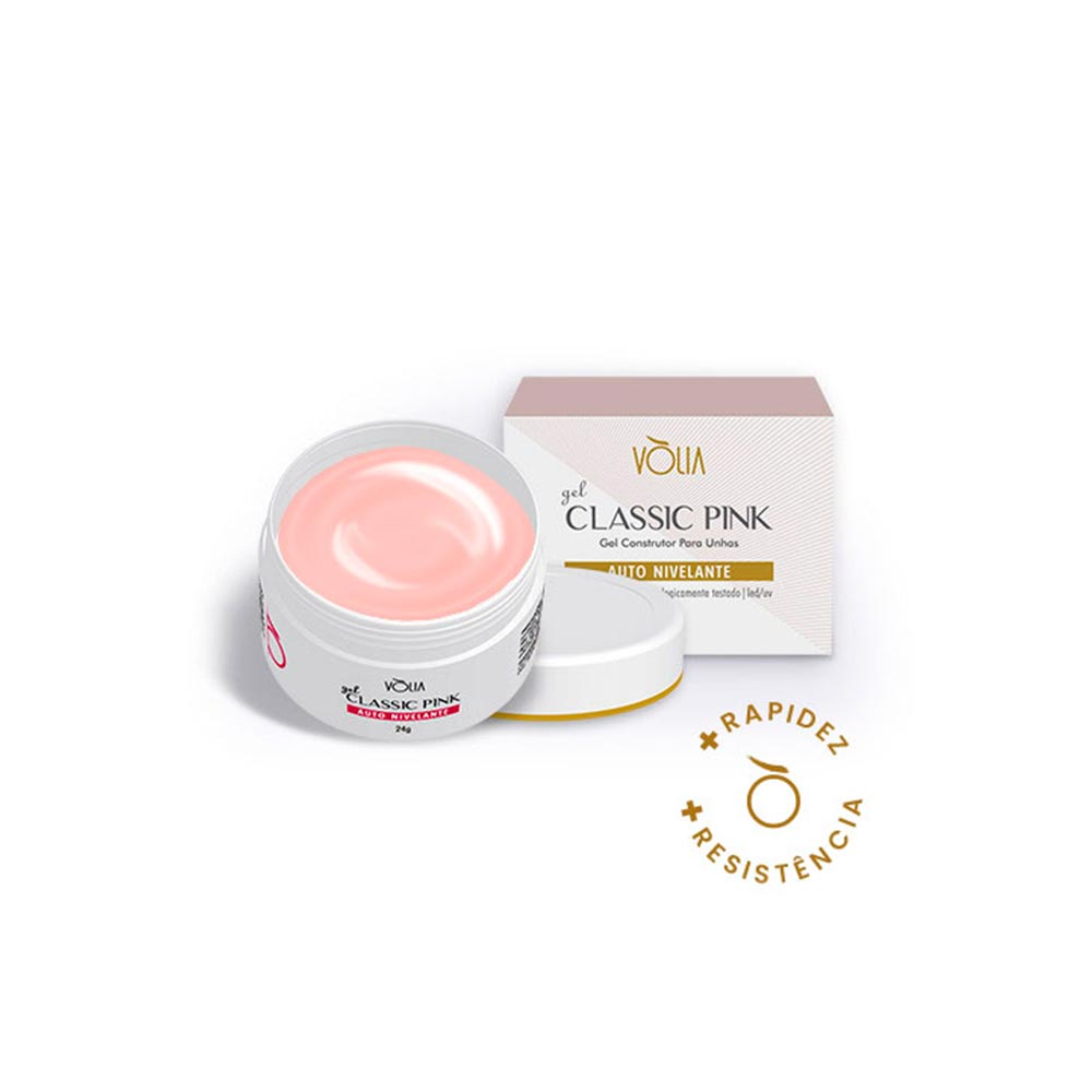 Gel Para Unhas Vòlia Classic Pink 24g