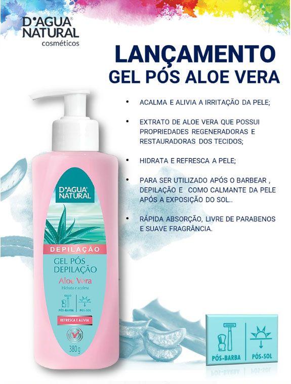 Gel Pós Depilação Aloe Vera 380g Dagua Natural