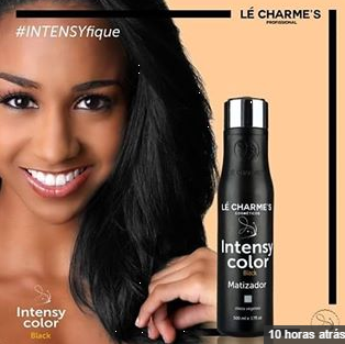 Intensy Color Masc Mat Black Lé Charmes 500ml