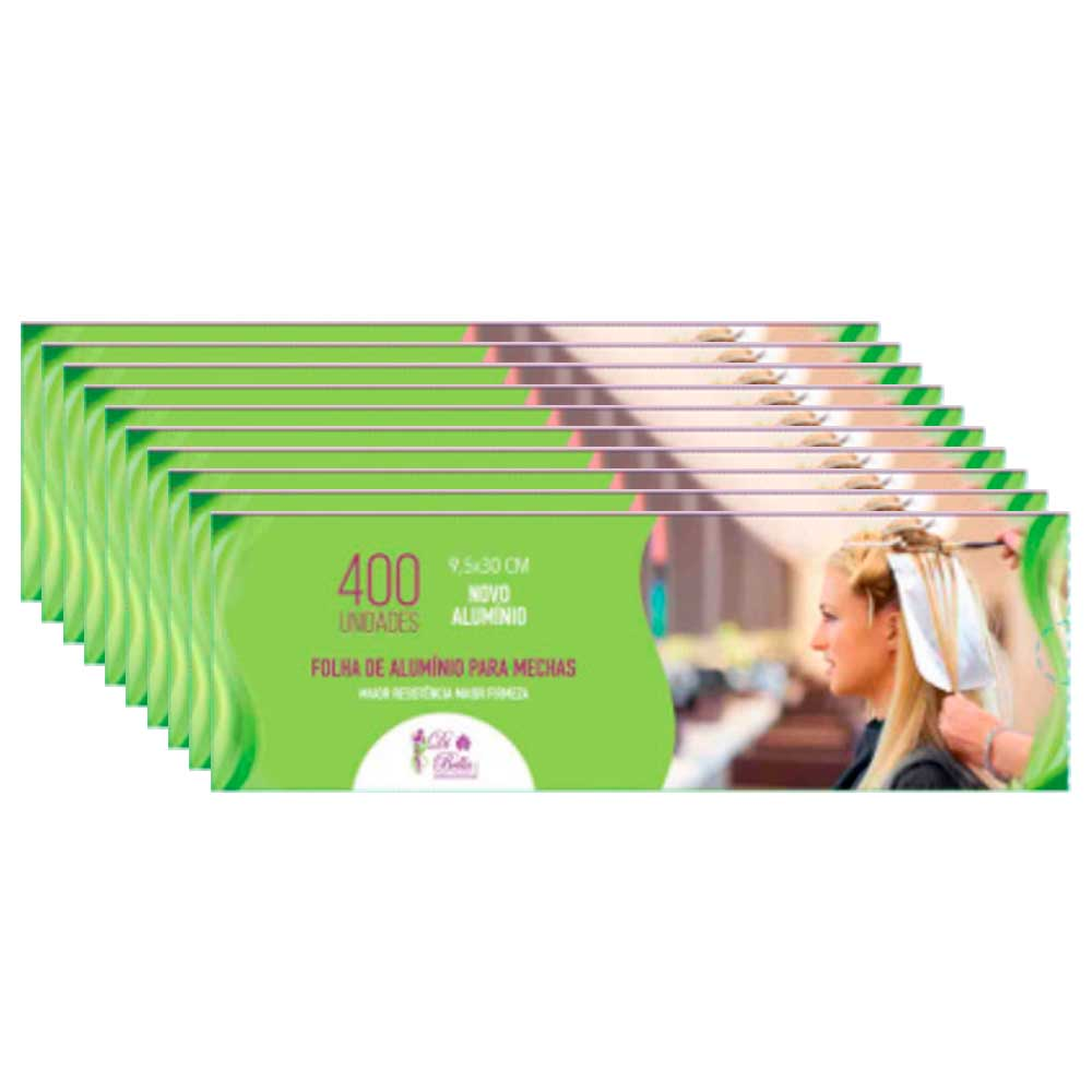 Kit 10 Caixas de Papel Alumínio Di Bella 9,5x30 400 Unidades