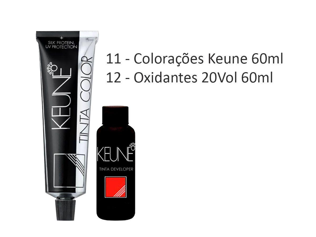 Kit 11 Colorações Keune + 12 Oxidantes