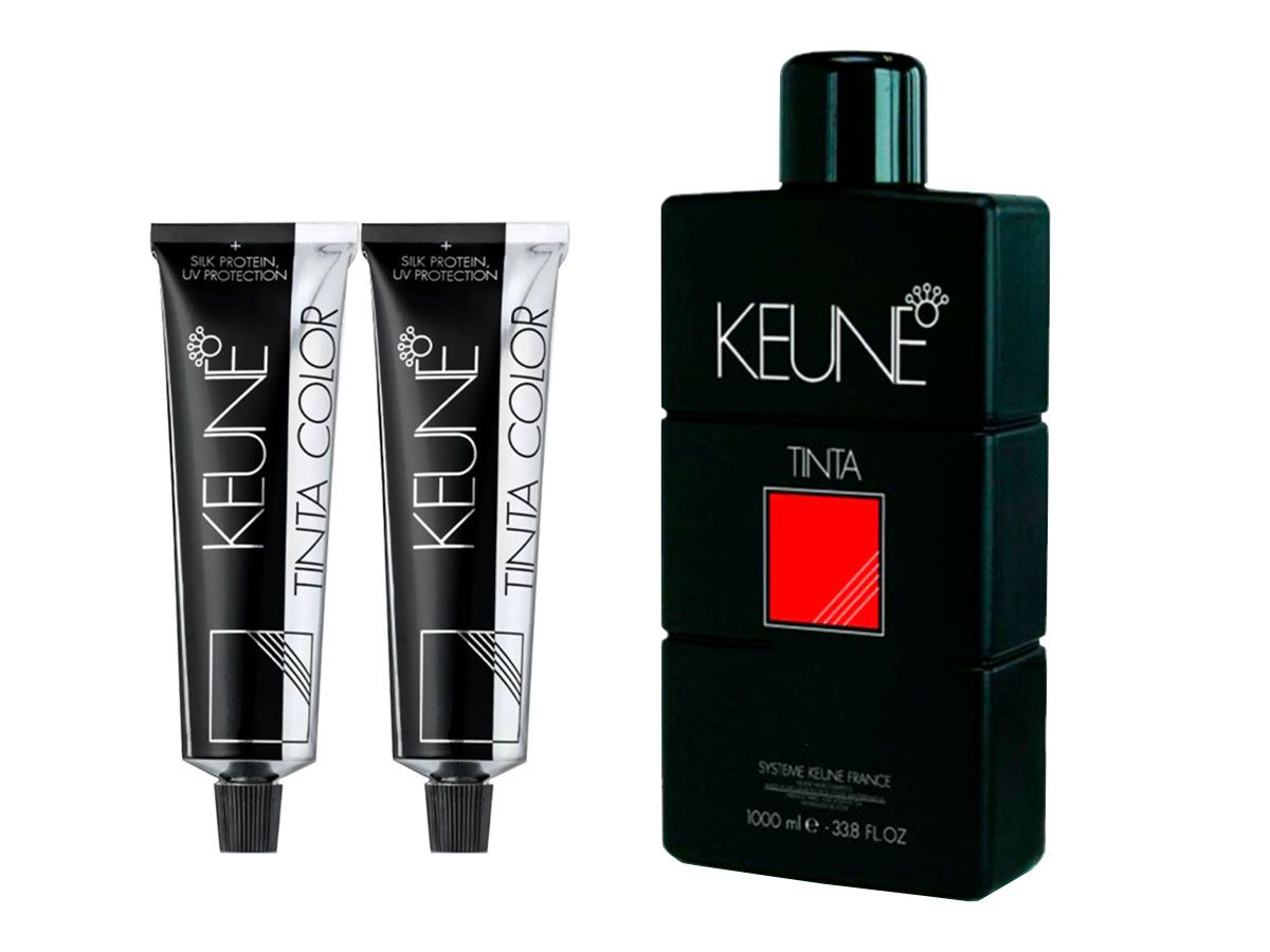 Kit 2 Colorações Keune Color 8.4 Louro Claro Cobre + Oxidante 30 Volumes 1000ml