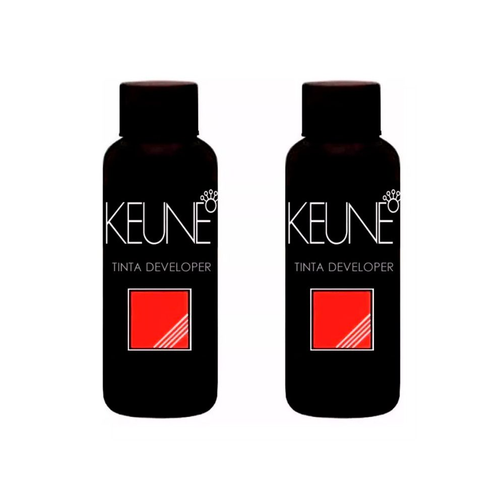 Kit 2 Cremes Oxidante Keune Tinta Developer 10, 20, 30, 40 Vol. - 60ml