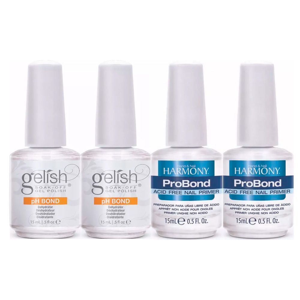 Kit 2 Desidratador Ph Bond 15ml + 2 Preparador Pro Bond 15ml Harmony