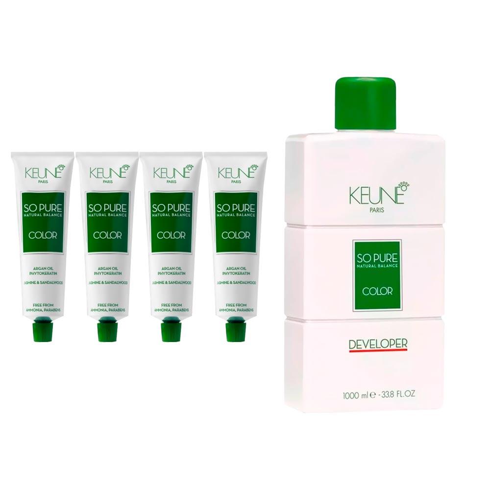Kit 2 So Pure 6 Louro Escuro + 2 So Pure 6.19 Louro Escuro Matte + 1 Oxidante So Pure 20Vol 1000ml