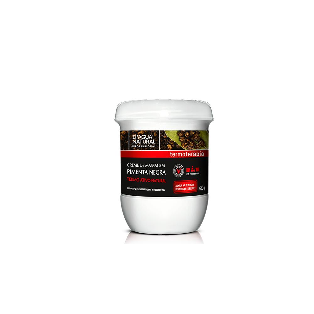 Kit 3 Cremes De Massagem Pimenta Negra Termo Ativo 650g Dagua Natural