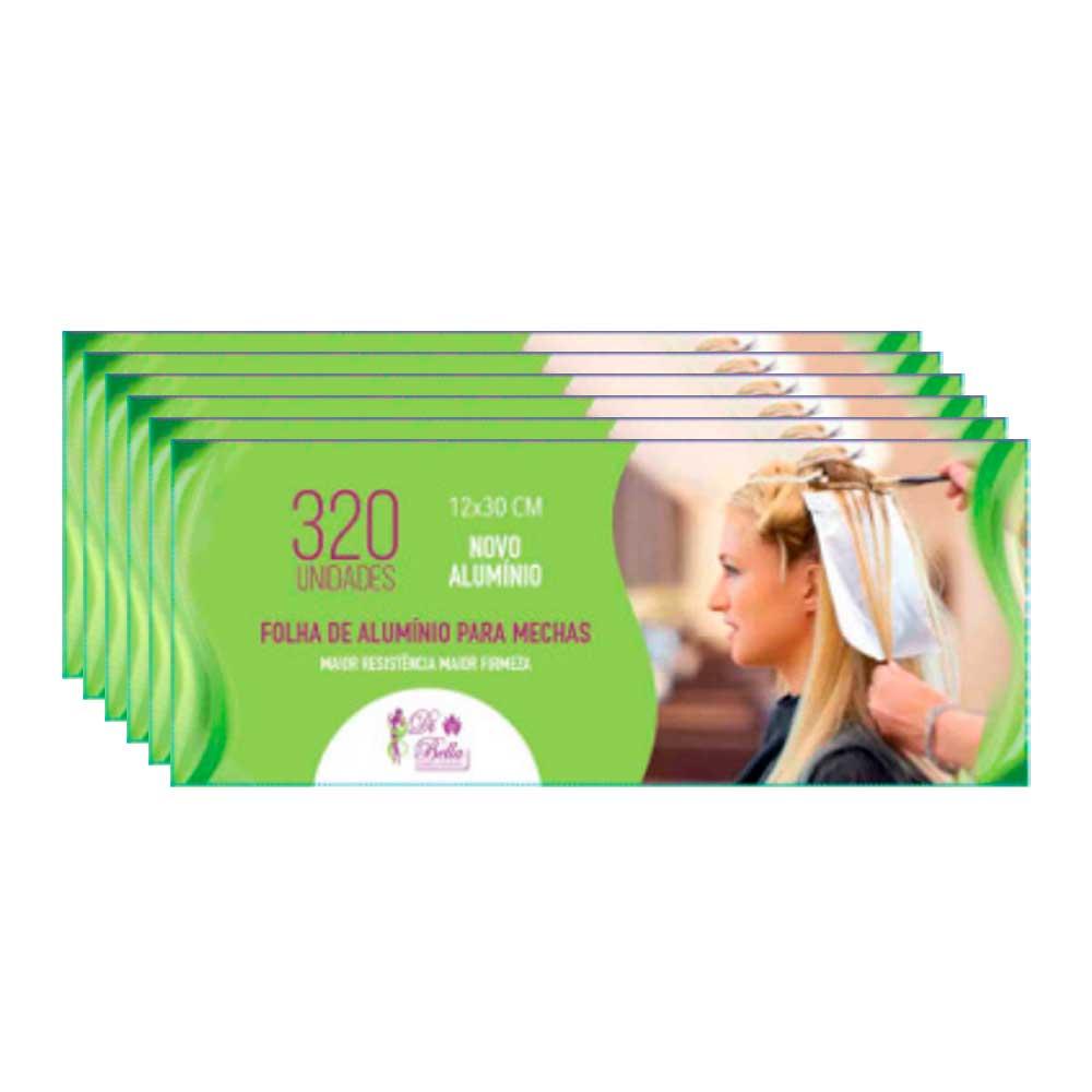Kit 6 Caixas de Papel Alumínio Di Bella 12x30 320 Unidades
