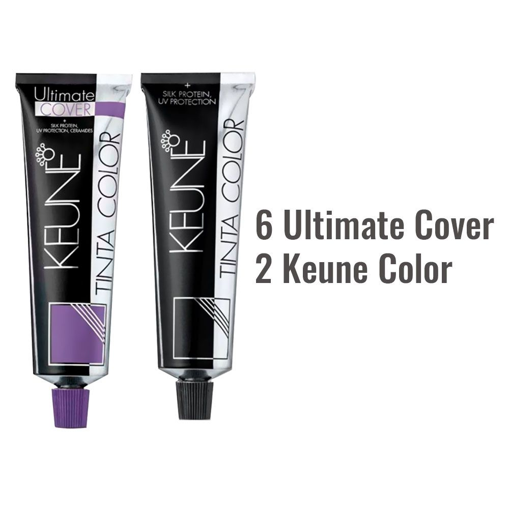 Kit 6 tintas 6.00 Ultimate Cover + 2 Tintas Keune color 6.38