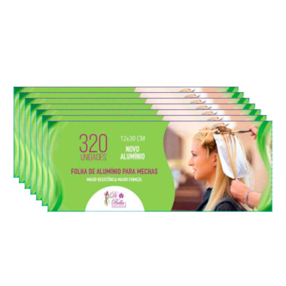 Kit 7 Caixas de Papel Alumínio Di Bella 12x30 320 Unidades