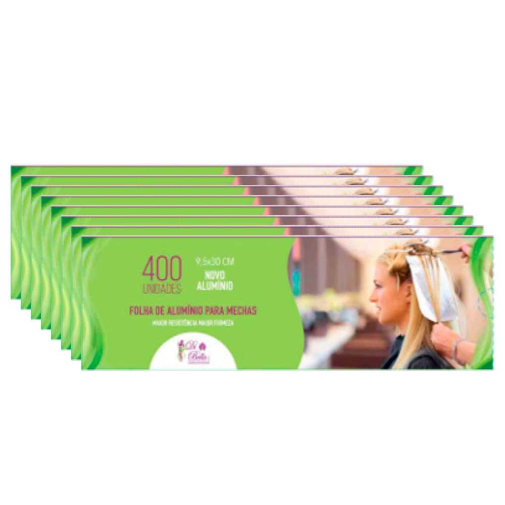 Kit 8 Caixas de Papel Alumínio Di Bella 9,5x30 400 Unidades
