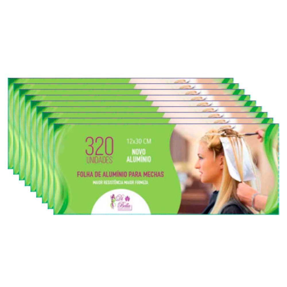 Kit 9 Caixas de Papel Alumínio Di Bella 12x30 320 Unidades