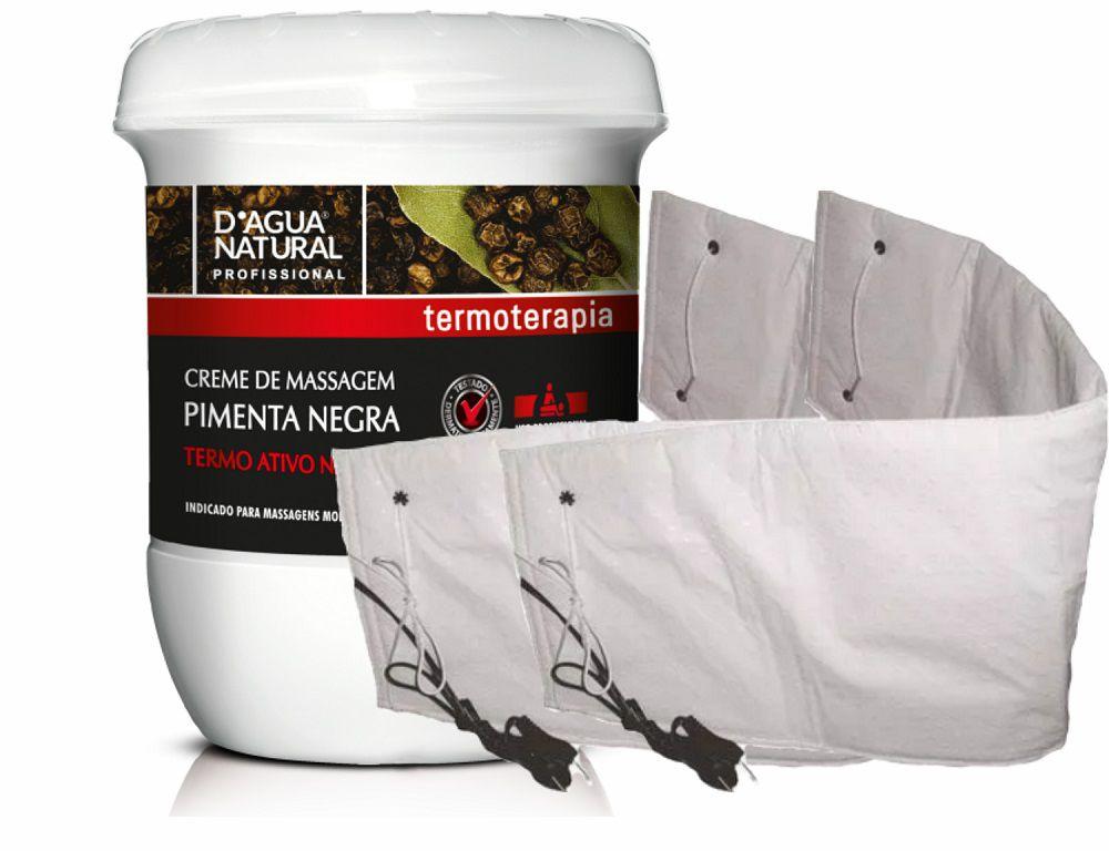 Kit Creme Pimenta Negra 650g Dagua Natural + 2 Cintas Térmica Elétrica Santa Clara