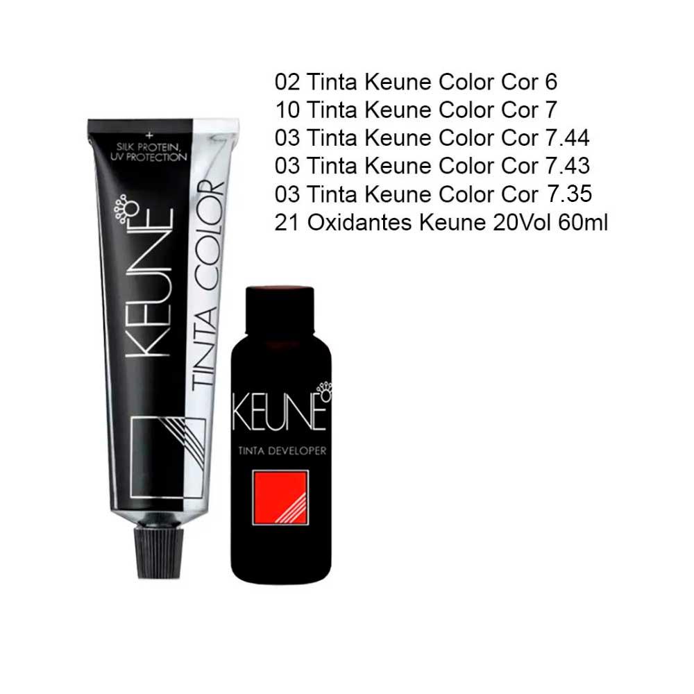 Kit de Colorações e Oxidantes Keune Color