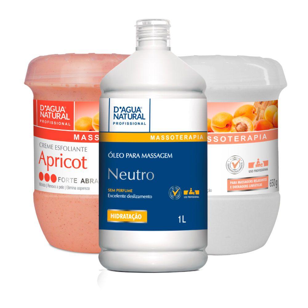 Kit De Massagem e Esfoliação D'agua Natural